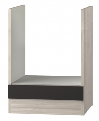 OPTIFIT Herdumbauschrank ohne Arbeitsplatte »Faro«, grau, Breite 60 cm