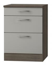 OPTIFIT Schubladen-Unterschrank »Arta«, beige Seidenglanz, Breite 60 cm