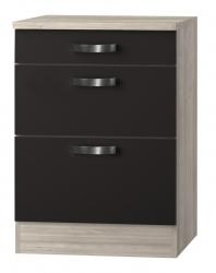 OPTIFIT Schubladen-Unterschrank »Faro«, grau, Breite 60 cm