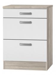 OPTIFIT Schubladen-Unterschrank »Genf«, weiß, Breite 60 cm