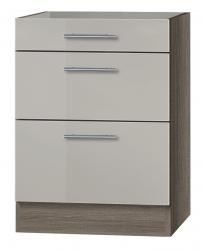 OPTIFIT Schubladen-Unterschrank ohne Arbeitsplatte »Arta«, beige Seidenglanz, Breite 60 cm