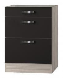 OPTIFIT Schubladen-Unterschrank ohne Arbeitsplatte »Faro«, grau, Breite 60 cm