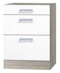 OPTIFIT Schubladen-Unterschrank ohne Arbeitsplatte »Genf«, weiß, Breite 60 cm