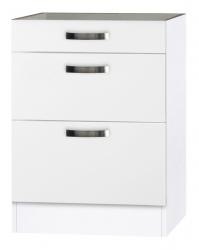 OPTIFIT Schubladen-Unterschrank ohne Arbeitsplatte »Lagos«, weiß Seidenglanz, Breite 60 cm