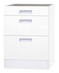 OPTIFIT Schubladen-Unterschrank ohne Arbeitsplatte »Oslo«, weiß, Breite 60 cm