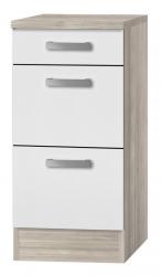 OPTIFIT Schubladen-Unterschrank »Genf«, weiß, Breite 40 cm