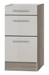 OPTIFIT Schubladen-Unterschrank »Arta« ohne Arbeitsplatte, beige Seidenglanz, Breite 40 cm