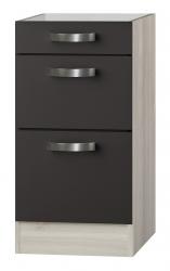 OPTIFIT Schubladen-Unterschrank »Faro« ohne Arbeitsplatte, grau, Breite 40 cm