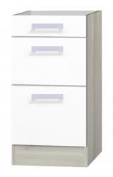 OPTIFIT Schubladen-Unterschrank »Genf« ohne Arbeitsplatte, weiß, Breite 40 cm
