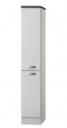Midi-Apothekerschrank GRANADA - 2 Front-Auszüge, 4 Körbe - Seidenglanz Weiß