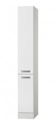 Küchen-Apothekerschrank BARCELONA - 2 Front-Auszüge, 5 Körbe - Weiß