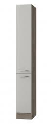 Küchen-Apothekerschrank GRANADA - 2 Front-Auszüge, 5 Körbe - Seidenglanz Beige