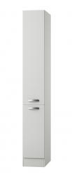 Küchen-Apothekerschrank GRANADA - 2 Front-Auszüge, 5 Körbe - Seidenglanz Weiß